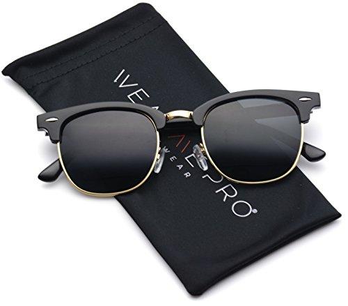 Half Frame Clubmaster Glasses : Polarized Clubmaster Men Women Classic Half Frame Semi ...
