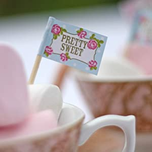 English Tea Party Food Flags x 20