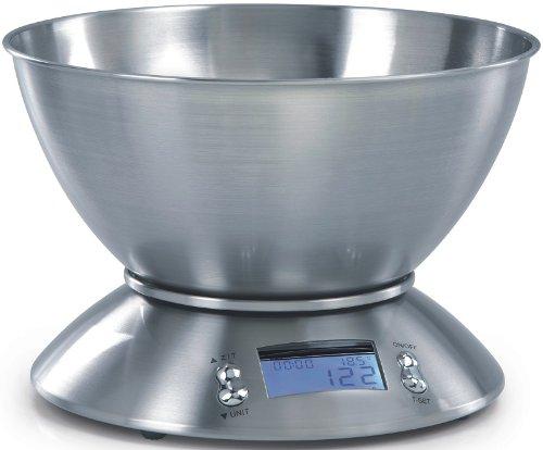 Balance de cuisine avec bol 2Liter-la précision de l'affichage 1 gramme près avec minuteur intégré et fonction tare, charge max. 5 kg-produit neuf vendu dans son emballage original.