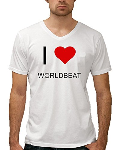 i-love-worldbeat-mens-v-neck-t-shirt
