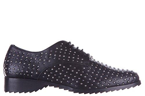 Armani Jeans scarpe stringate classiche donna in pelle derby micro studs nero EU 37 C5769 19 12