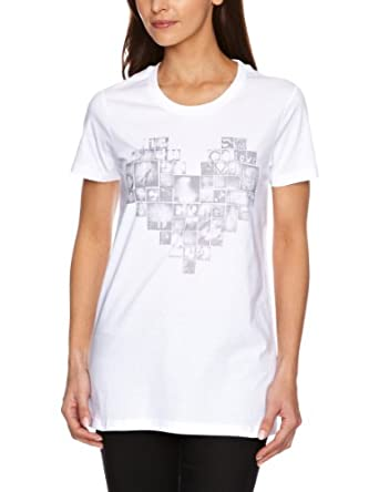 Billabong Heart Printed Women's T-Shirt White Small