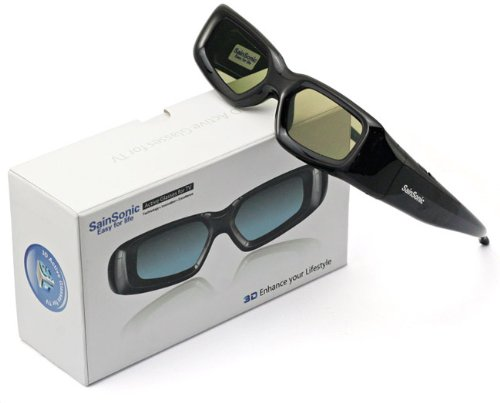 2 X SainSonic 3D Rechargeable Infrared Active Shutter Glasses For Panasonic 3D HDTVs