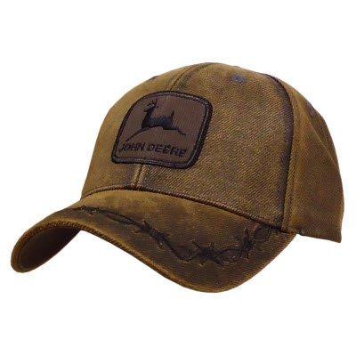 john-deere-oilskin-patch-colore-marrone