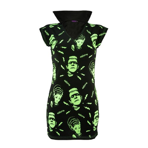 Banned Dress FRANKENSTEIN & BRIDE black L