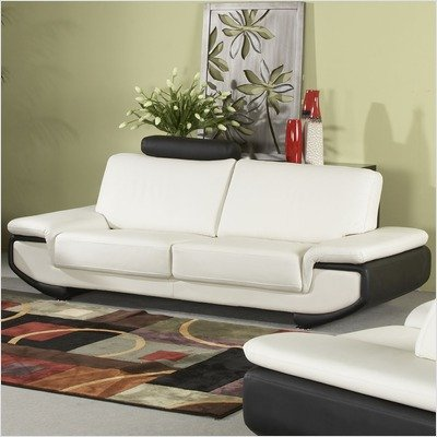 Buy Low Price Chintaly Imports Austin Leather Sofa and Loveseat Set (AUSTIN-SFA / AUSTIN-LS)