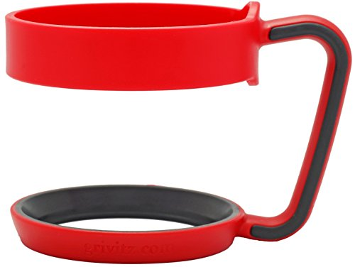 Grivitz - Handle for 30 oz YETI Rambler Tumbler, RTIC and Other 30 oz Tumblers (Red/Black)