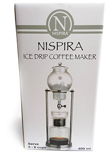 Luxury Home Coffee Maker : NISPIRA Luxury Ice Cold Brew Dripper Coffee Maker in Stainless Steel and Borosilicate Glass Home ...