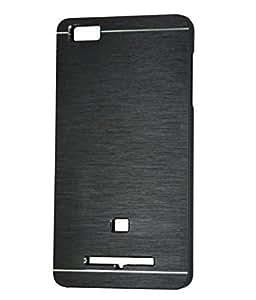 MVE Premium Brushed Aluminium Protective Hard Back Case Cover (Rubberised Inside) for XIAOMI MI4I BLACK