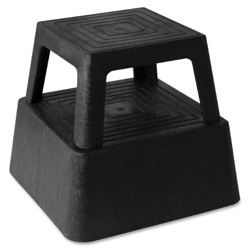 Genuine Joe GJO02428 Structural Plastic Step Stool with 4 Casters, 350 lbs Capacity, 14.3