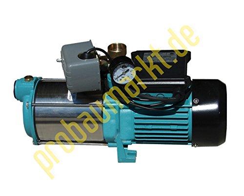 Wasserpumpe 1300W 100l/min mit Druckschalter mit Trockenlaufschutz Jetpumpe Gartenpumpe Hauswasserwerk Kreiselpumpe