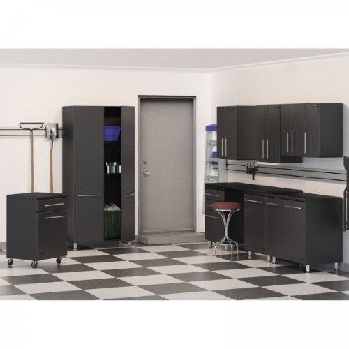 Ulti-MATE Garage 9-Piece Storage Cabinet Kit (Graphite Grey and Black) (80
