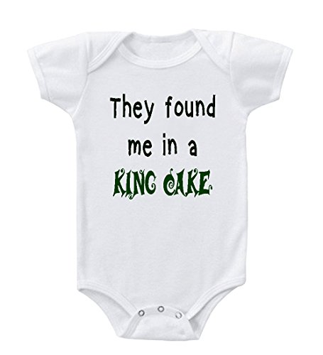They Found Me In A King Cake Infant Toddler Baby Bodysuit One Piece 24 Months front-862462