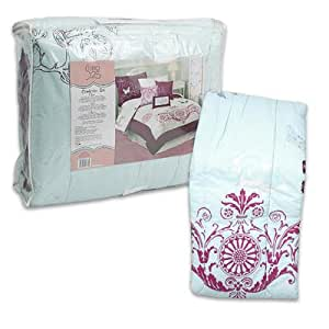 Studio 25 Beauty 3-pieces Purple Aqua Blue Floral Butterfly Comforter Set Twin