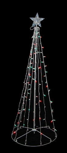 5' Red & Green LED Lighted Outdoor Twinkling