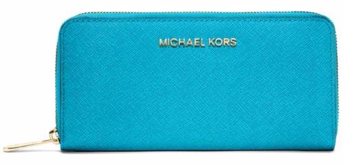 MICHAEL Michael KorsMichael Kors Large Jet Set Travel Wallet Summer Blue
