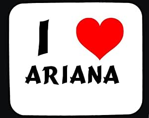Amazon.com : I Love Ariana custom mouse pad (first name/surname