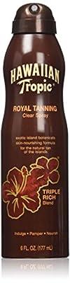 Hawaiian Tropic Royal Tanning Sun Care Spray Oil - 6 Ounce (Pack of 3)
