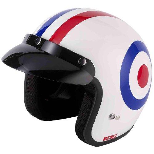 Vcan V500 Open Face Motorcycle Helmet L Roundel
