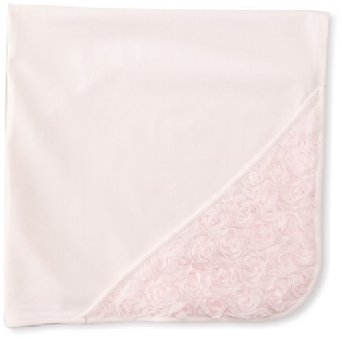 Biscotti Baby-girls Newborn Precious Rose Blanket In Netting Bag, Pink, One Size