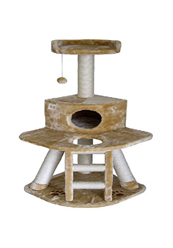 Go Pet Club 50-Inch Cat Tree, Beige