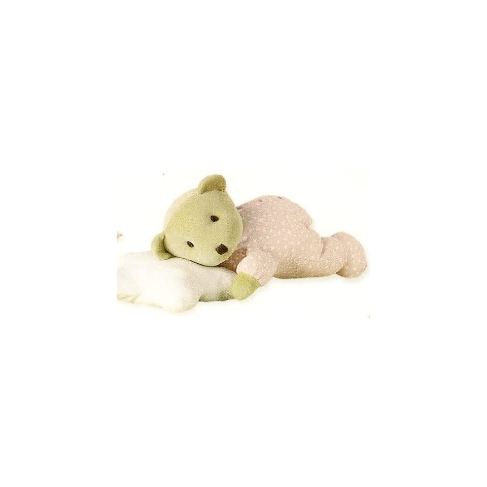 Tuc Tuc Pink Soft Teddy Bear/Pillow Stuffed Plush Baby Toy. Moons and Stars Collection.