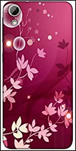 Snoogg Flower Pink Graphic Designer Protective Back Case Cover For HTC Desire 626
