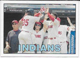 Cleveland Indians 2016 Topps Heritage Team Card #347