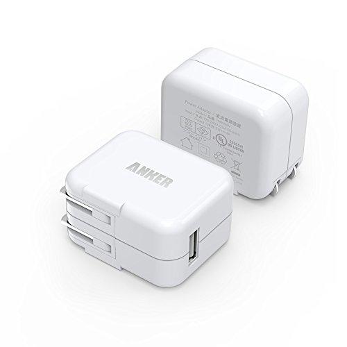Anker® 10W USB急速充電器 ACアダプタ 合計2A 折りたたみ式 iPhone6, iPhone 5s/5c/5, iPad Air/mini, Galaxy S5/S4/Note 3/2/Tab/Nexus及びその他のスマートフォンやタブレットなどに対応 (ホワイト 2個セット)