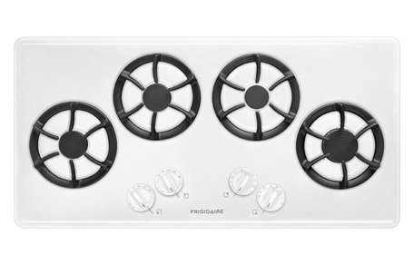 36 In. Gas Cooktop - White