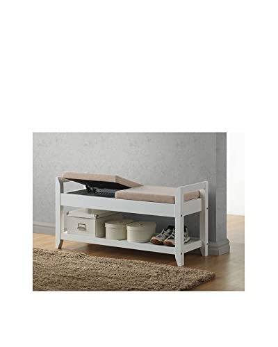 Baxton Studio Maudie Modern Storage Seating Bench  [White]