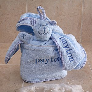Personalized Baby Terry Bath Set - Blue front-988147