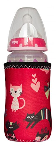 Kidzikoo - #1 Neoprene Baby Bottle/Sippy Cup Insulator Cooler Coozie - Kitties