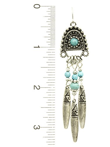 Turquoise Metal Fringe Native American Style Earring Fashion Jewelry And Accessory Beautiful Charms