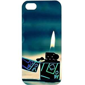 Casotec Cigrate Lighter Design Hard Back Case Cover for Apple iPhone 5 / 5S