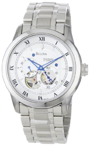 Bulova 96A118 Mens Mechanical Silver Watch