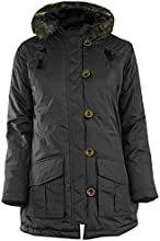 GG Girls Nelia Military Quilted Parka Hood Kids Jacket Coat