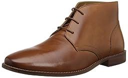 Florsheim Men\'s Montinaro Plain Toe Chukka Boot, Saddle Tan, 9.5 D US