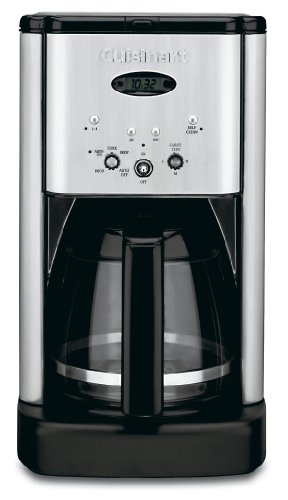 Cuisinart DCC-1200 Brew Central 12-Cup Programmable Coffeemaker, Black/Brushed Metal
