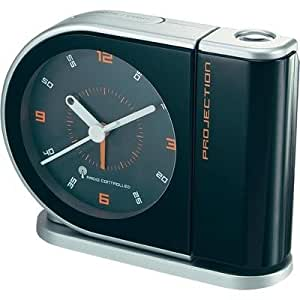 radio controlled projection alarm clock with red electronics. Black Bedroom Furniture Sets. Home Design Ideas