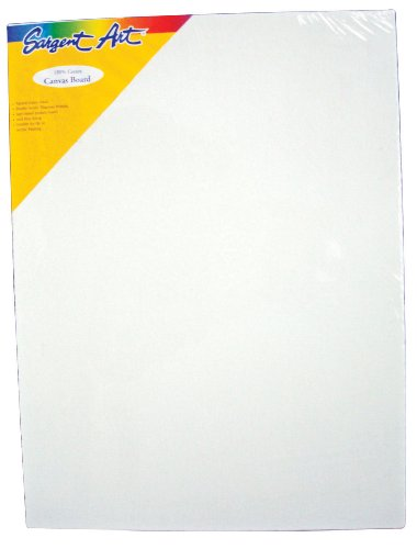 Sargent Art 90-3008 16x20-Inch Canvas Panel, 100% Cotton
