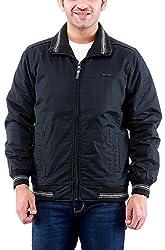 Time Option Men's Cotton Jacket (5018_Black_38)