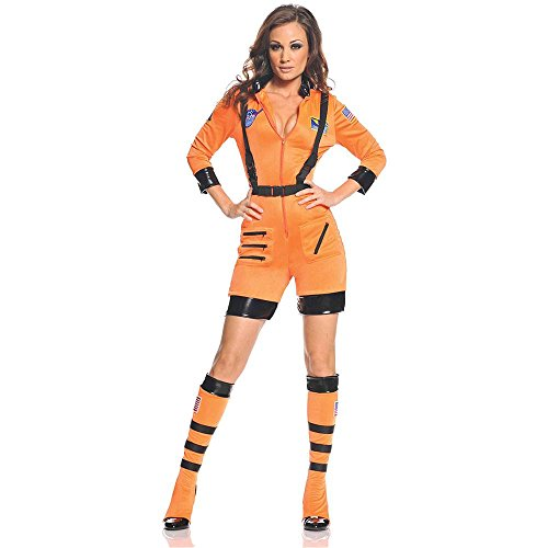 Sexy Orange Astronaut Adult Costume
