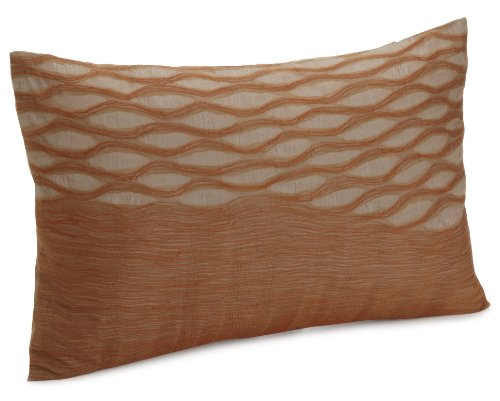 Calvin Klein Home Oval Veil Decorative Pillow, Sienna