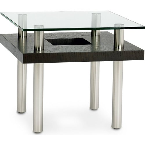 Cheap BDI Hokkaido Collection 2310 End Table – Multiple Finishes w/ Glass Top (B004WJTJIY)