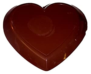 3lb Solid Dark Chocolate heart. Large Valentine heart. Certified Kosher