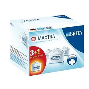 【限定増量パック】 BRITA (ブリタ) ポット型浄水器 MAXTRA(マクストラ) 交換用カートリッジ 3+1個パック