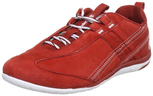Timberland Campton FTW_EK Campton Rubber Cupsole Leather Ox Lace-Ups Women Red Rot (Dark Red) Size: 7 (41 EU)