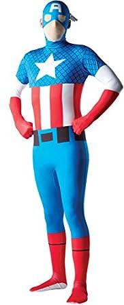 Rubie's Costume Men's Marvel Universe Captain America Adult 2Nd Skin Costume, Multi, Medium