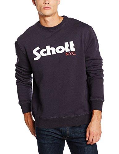 Schott NYC Swcrew, Felpa Uomo, Blu ( Navy ), X-Large
